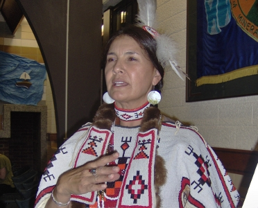 photo of a Native American woman at MOP founding convention
