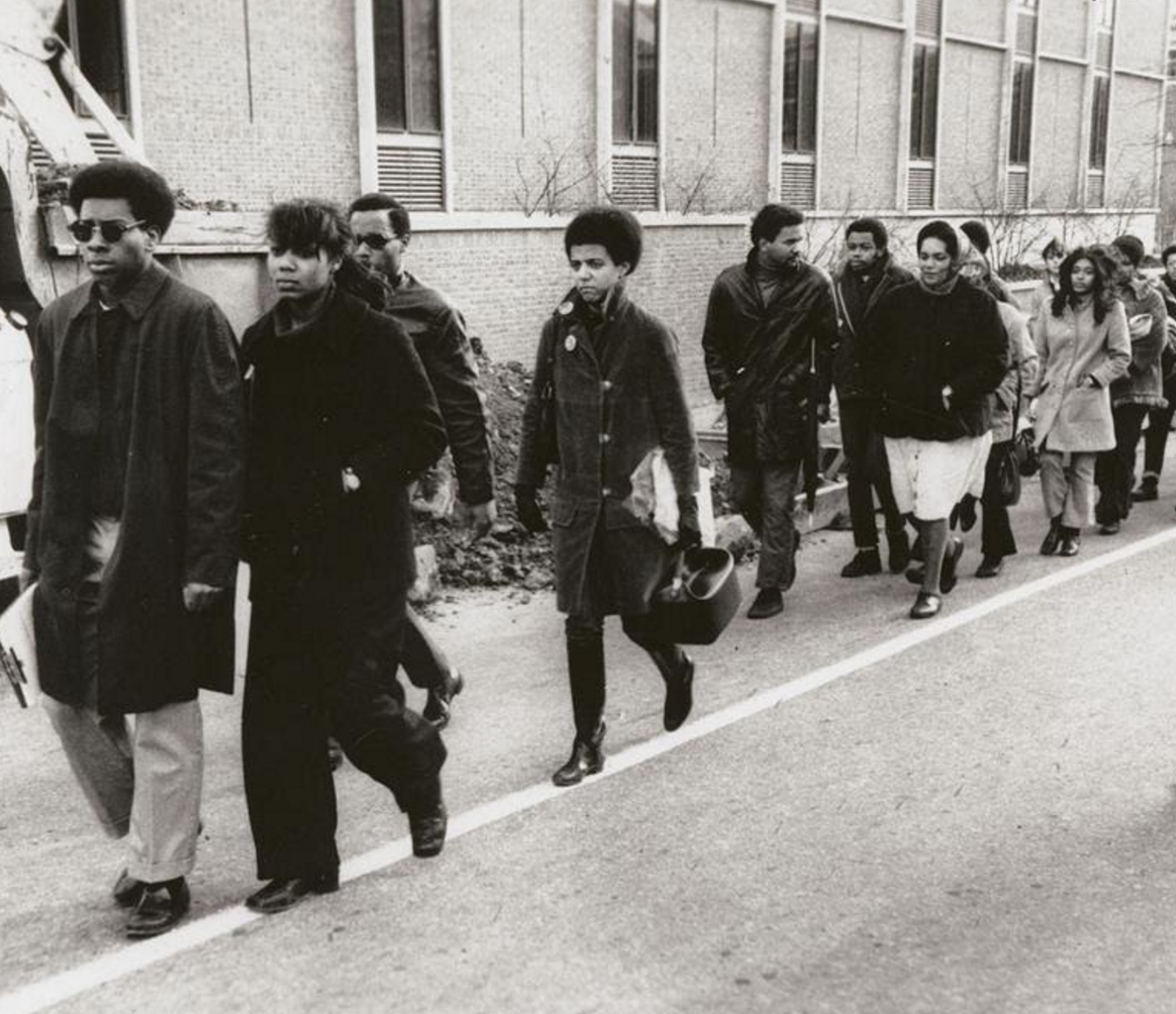 Student protests at Brown University in 1968.